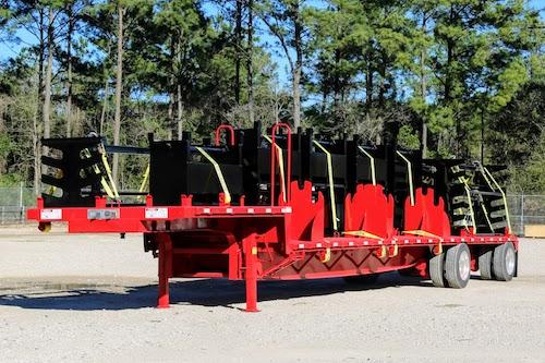 Custom fabricated body load frac iron trailer
