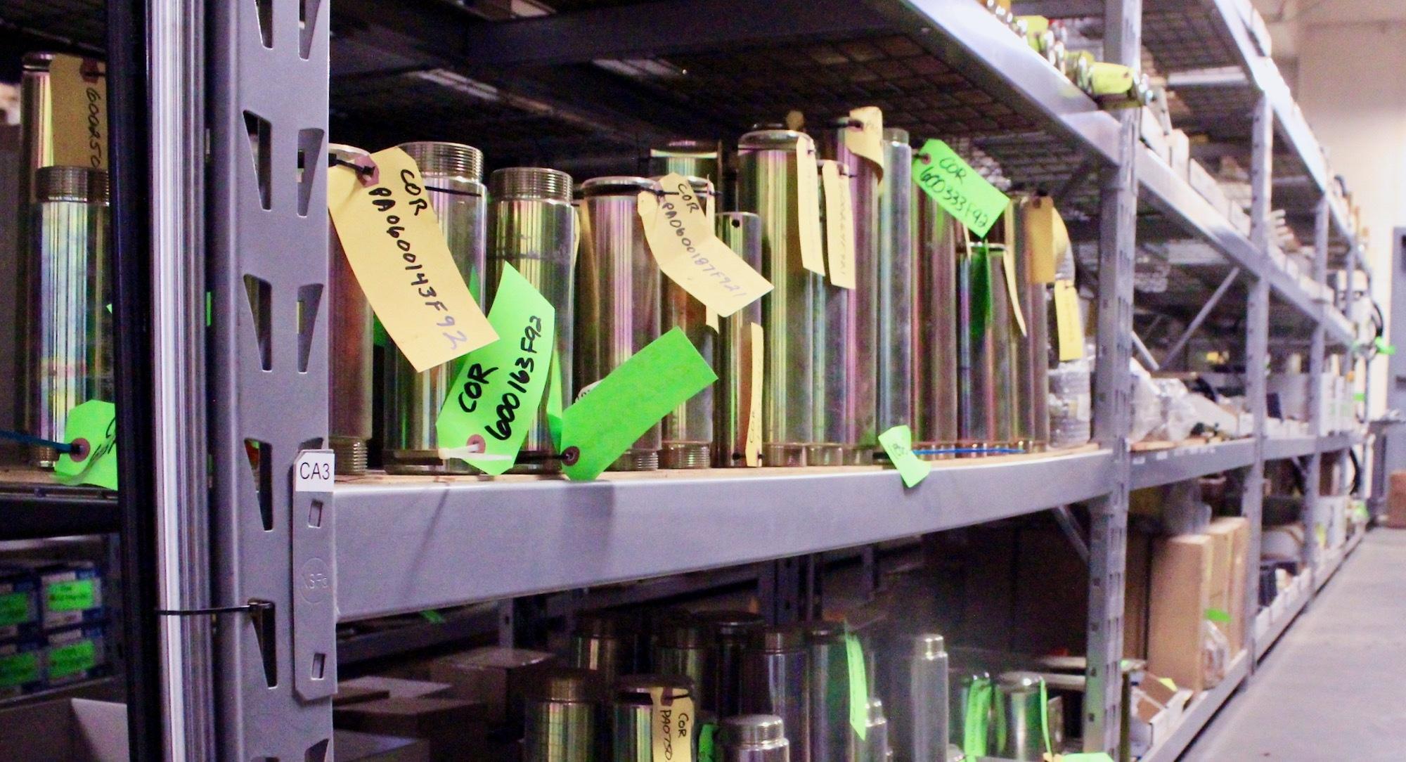 Crane parts inventory