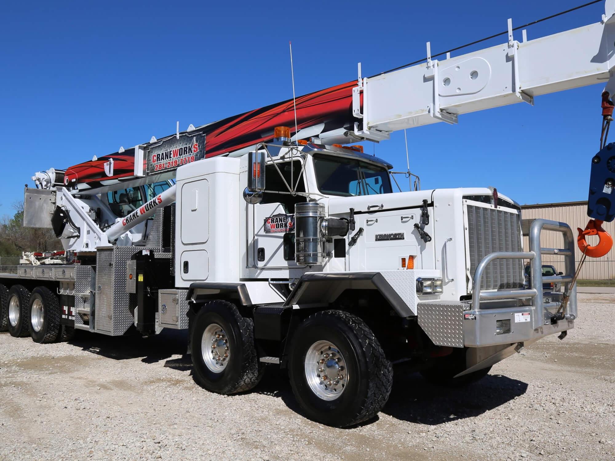 Manitex boom truck crane