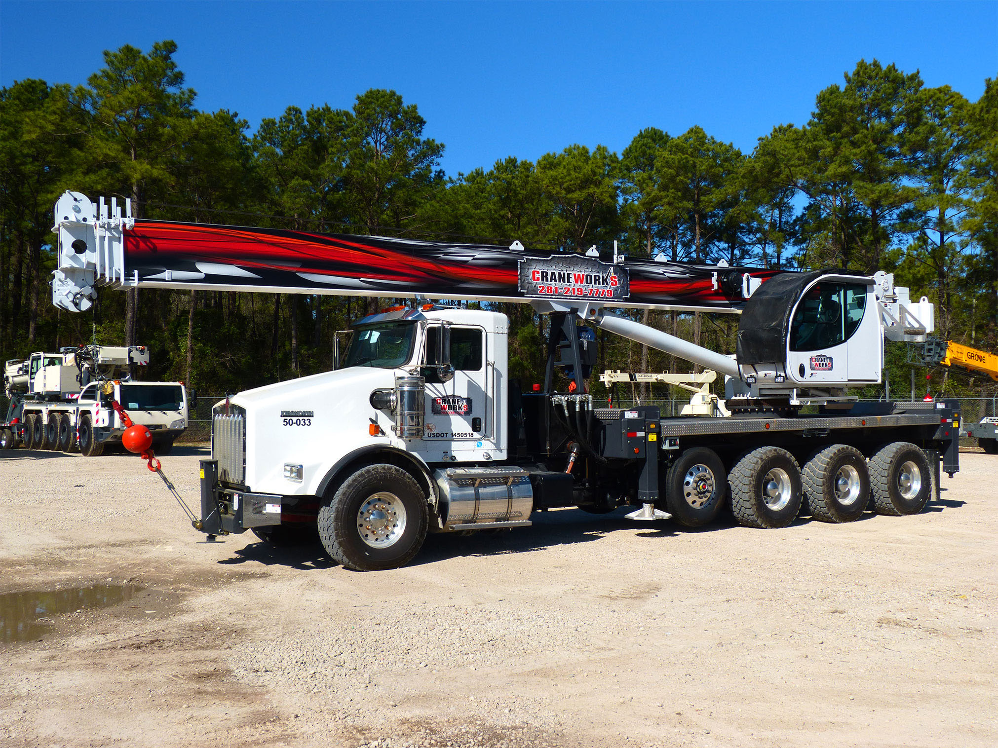 Find a boom truck for rent or other bare rental cranes