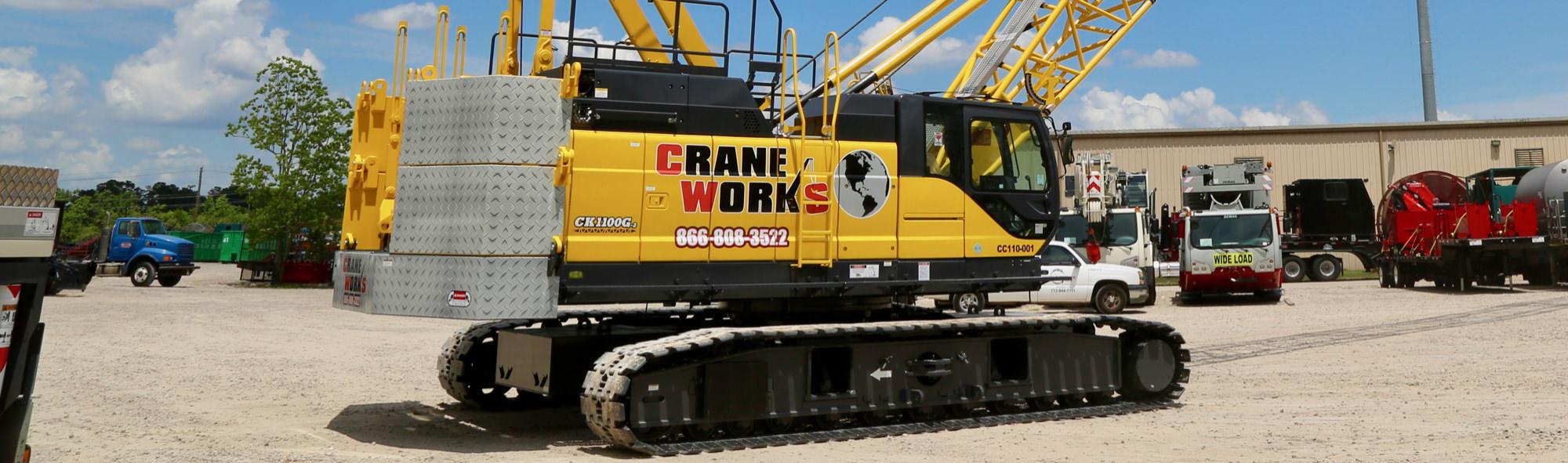 Kobelco CK1100G2 crawler crane