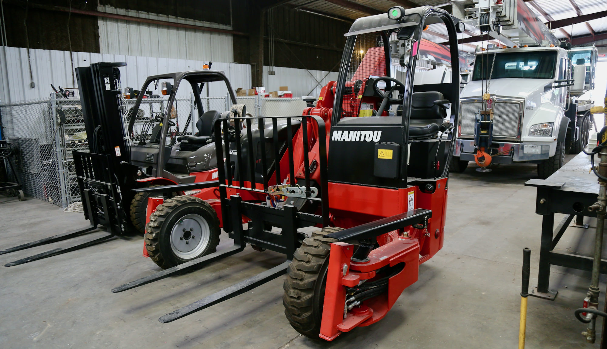 Manitou truck-mounted forklift