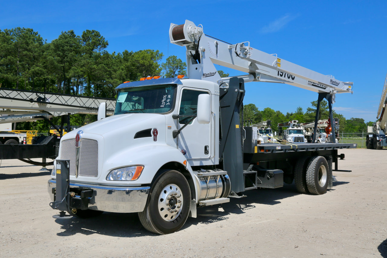 New Manitex 1970C 19-ton boom truck for sale on Kenworth T370 chassis #BM-3247