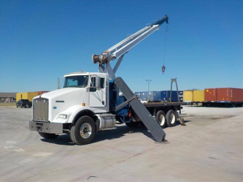 Used 2009 Manitex 26101C 26-ton boom truck for sale on Kenworth T800 #UT-710A