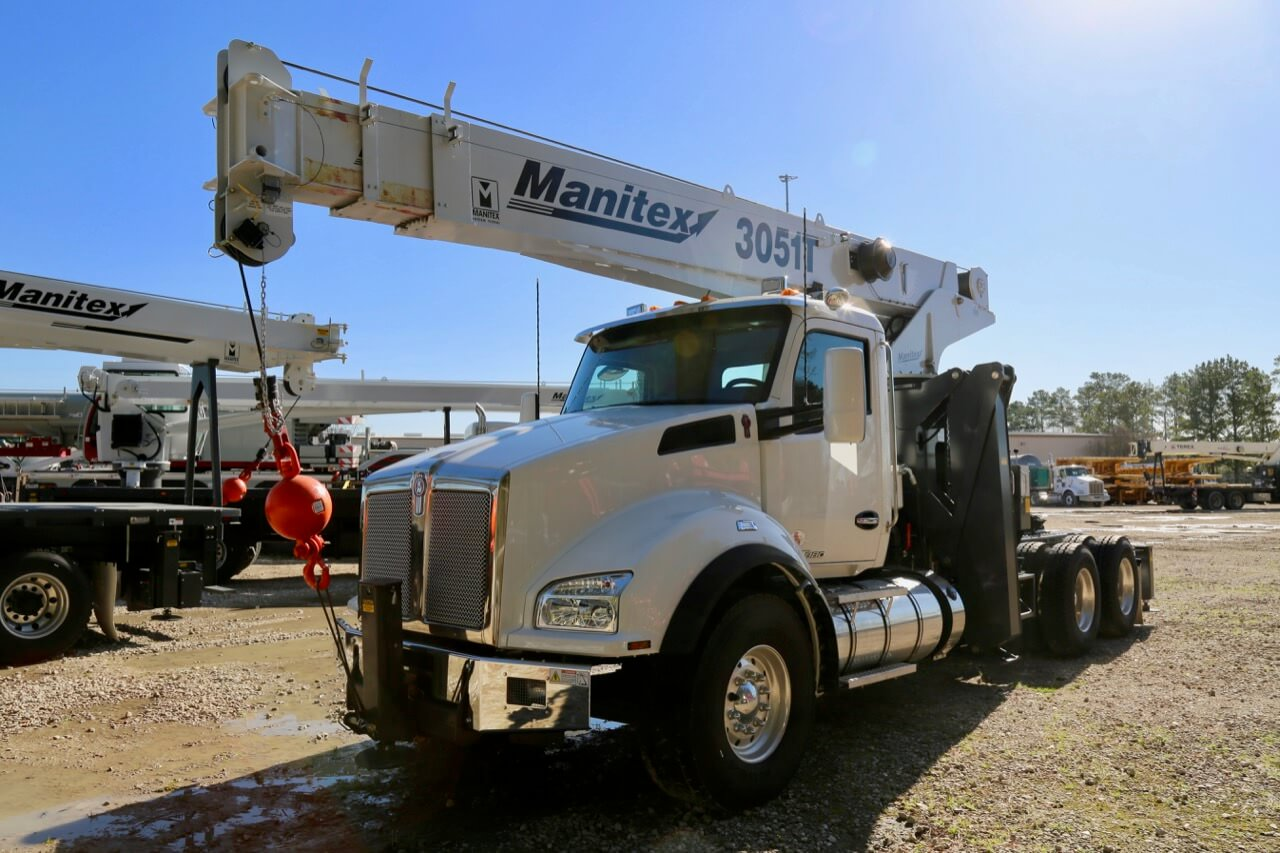 Used 2019 Manitex 3051T 30-ton tractor mount boom truck for sale or rent #30-054