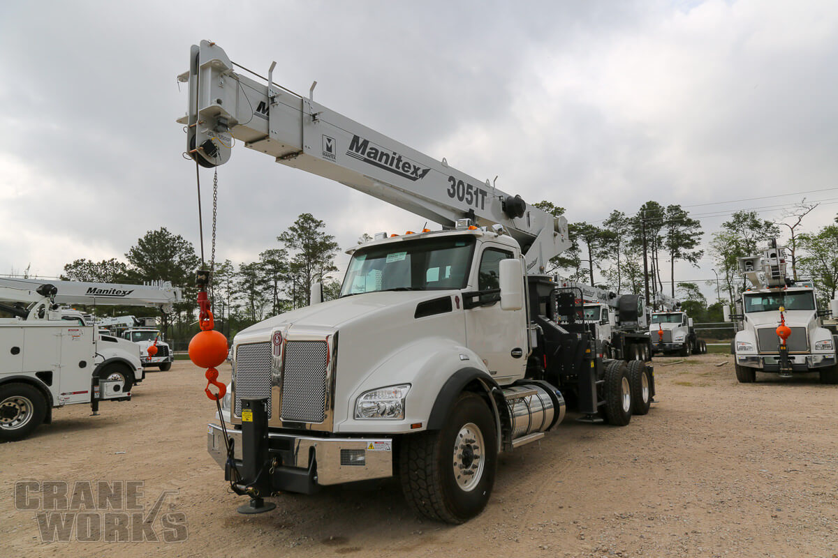 New Manitex 3051T tractor-mounted 30-ton boom truck for sale on Kenworth T880 #BM-3234
