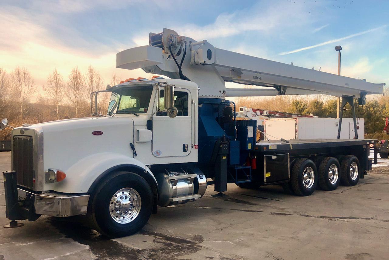 Used 2012 Manitex 35124C 35-ton boom truckfor sale on Peterbilt 367 #UT-693