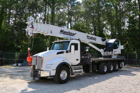 New Manitex TC40142 40-ton boom truck for sale on Kenworth T880 #BM-3042