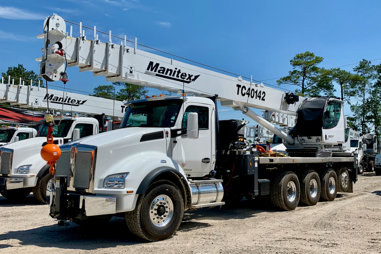 New Manitex TC40142 40-ton boom truck for sale on Kenworth T880 chassis #BM-3197