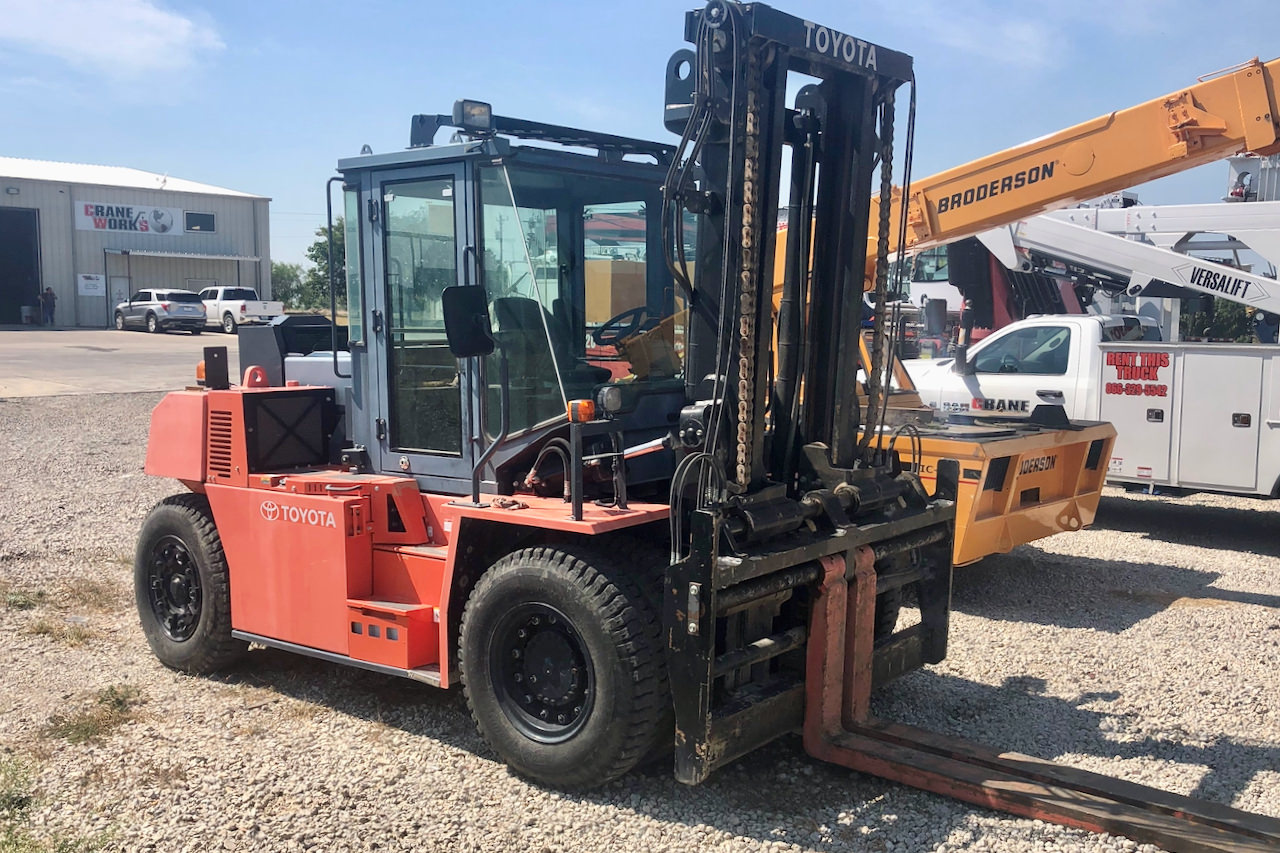Used 2018 Toyota 5FD115 outdoor forklift for sale #FL-361