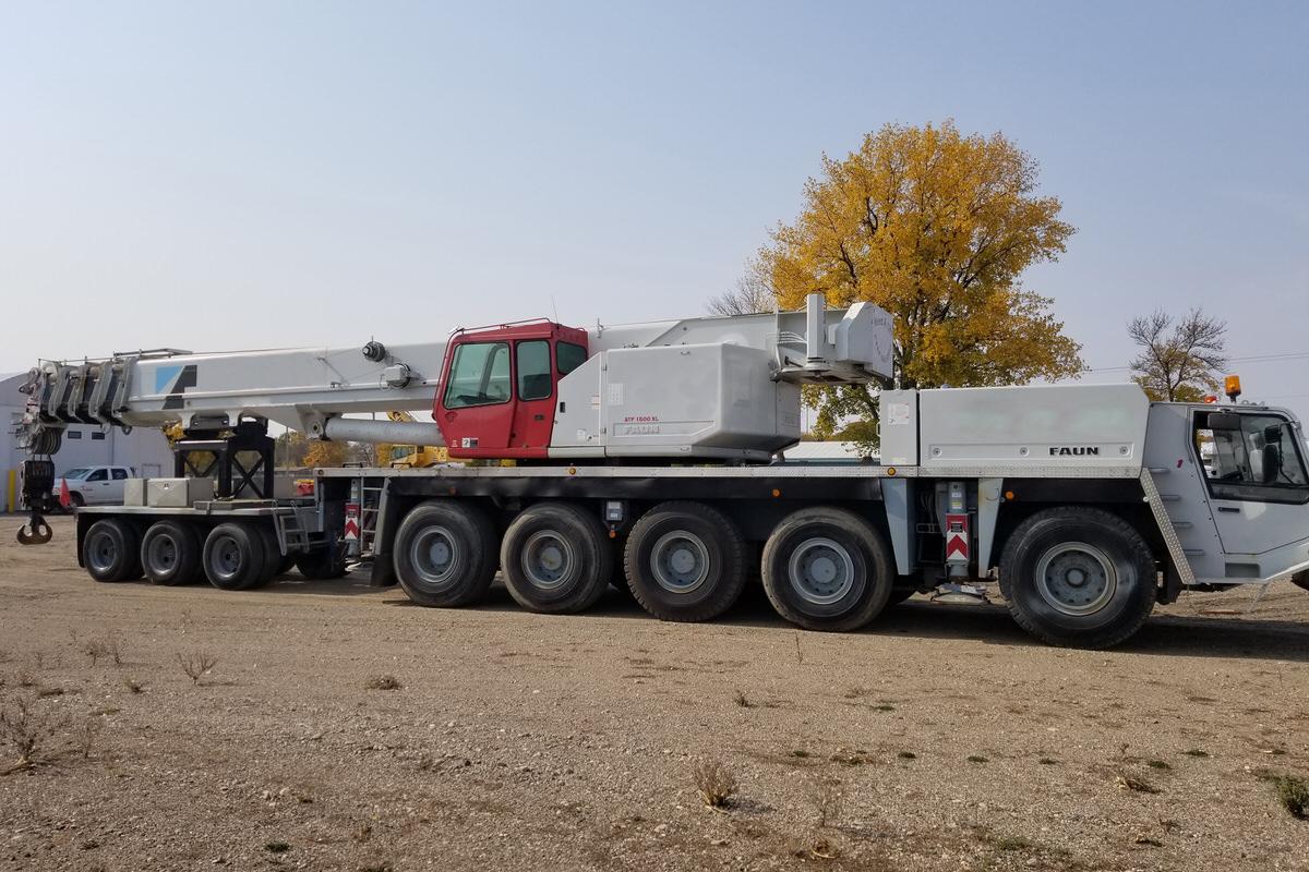 Used Tadano ATF 1500XL 150-ton all terrain crane for sale with boom dolly #CS-1619