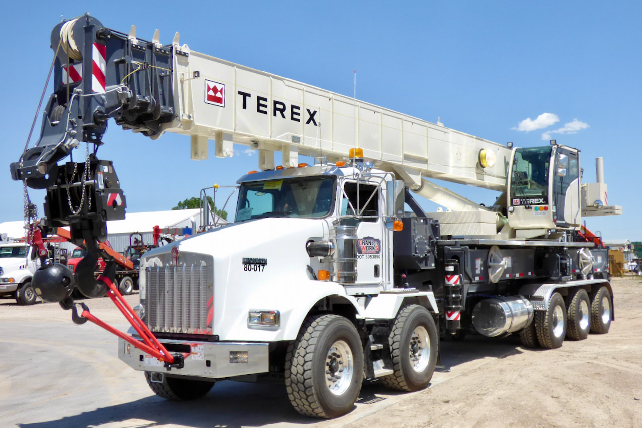 Used 2018 Terex Crossover 8000 80-ton boom truck for sale or rent #80-017