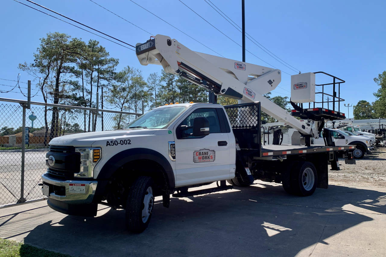 Used 2019 Versalift VST-50-TN 55-foot bucket truck for sale or rent #A50-002